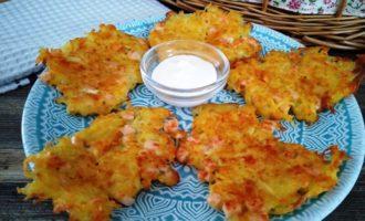 Драники картофельные с колбасой пошаговый