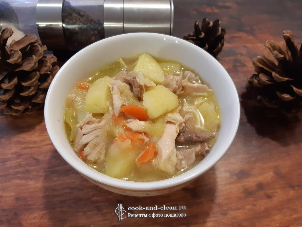 Овощное рагу с кабачками курицей и картошкой