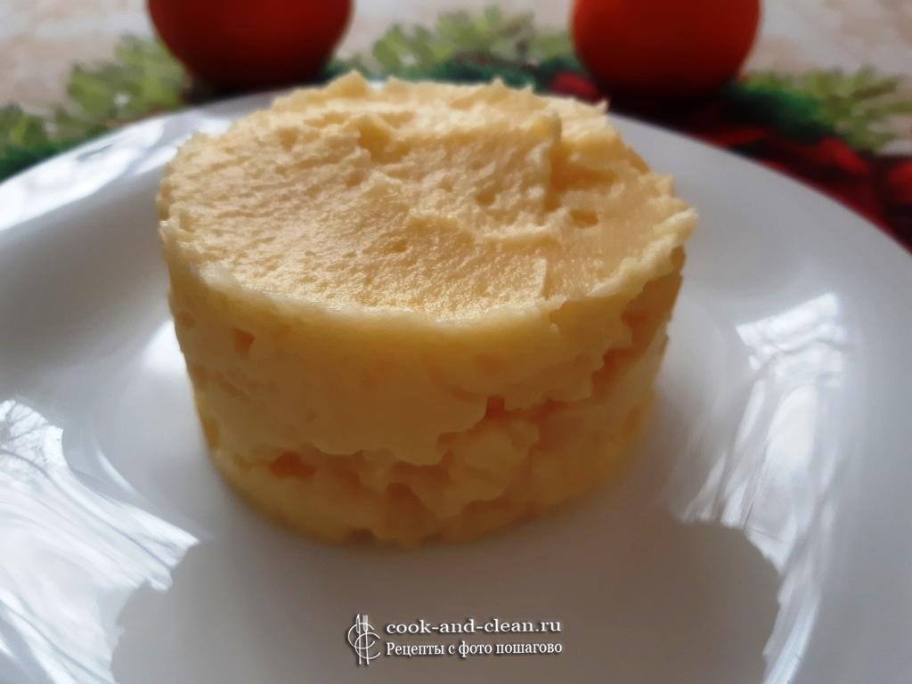 Пюре картофельное без молока с маслом