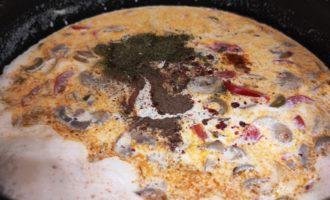 Спагетти со сливками и грибами пошагово с фото