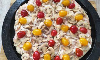 вегетарианская пицца пошагово с фото