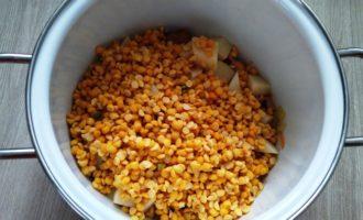гороховый суп с куриным окорочком пошагово с фото