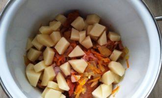 гороховый суп с куриным окорочком пошагово