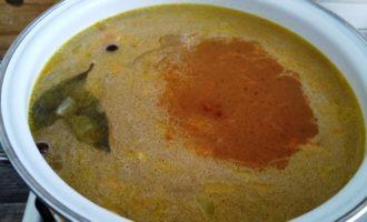 гороховый суп с куриным окорочком пошаговый