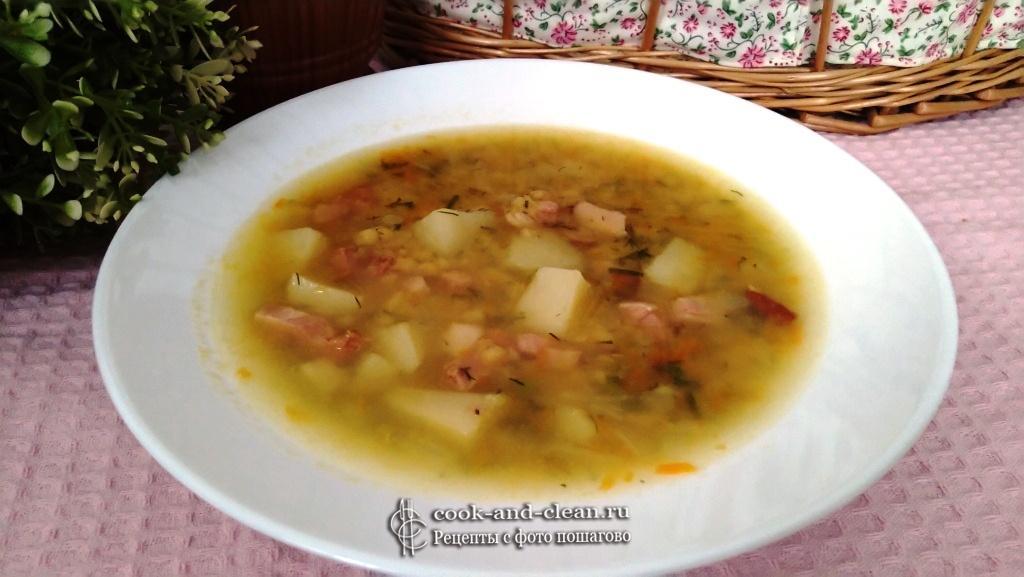 гороховый суп с окорочком