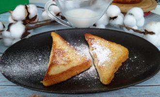 гренки с яйцом и молоком