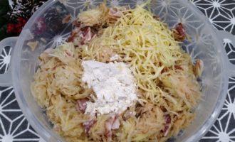 драники с беконом и сыром рецепт с фото
