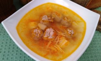 как приготовить вермишелевый суп с фрикадельками