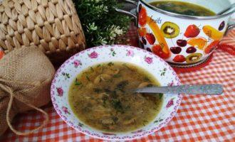 как приготовить грибной суп из шампиньонов с вермишелью