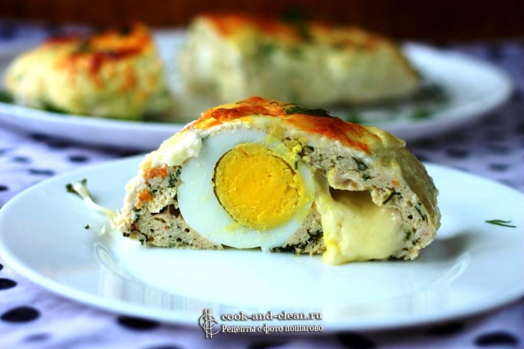 как приготовить куриный рулет с яйцом