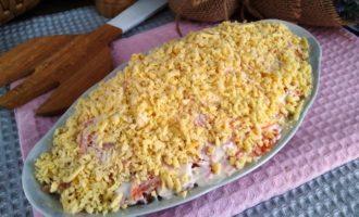 как приготовить мимоза с сыром