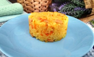 как приготовить рисовая каша с колбасой