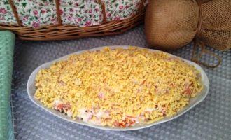как приготовить салат мимоза с сыром