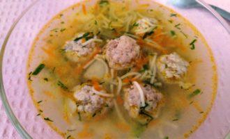 как приготовить суп вермишелевый с фрикадельками