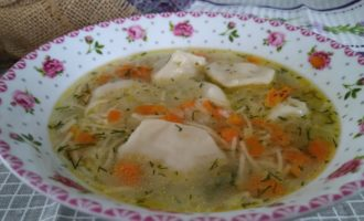 как приготовить суп с пельменями и вермишелью
