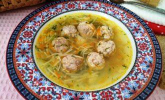 как приготовить суп с фрикадельками и вермишелью рецепт