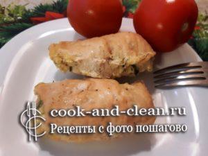 куриные рулеты с творогом и сыром