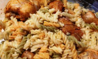 макароны с курицей в духовке рецепт