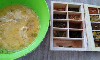омлет с брокколи и сыром на сковороде фото