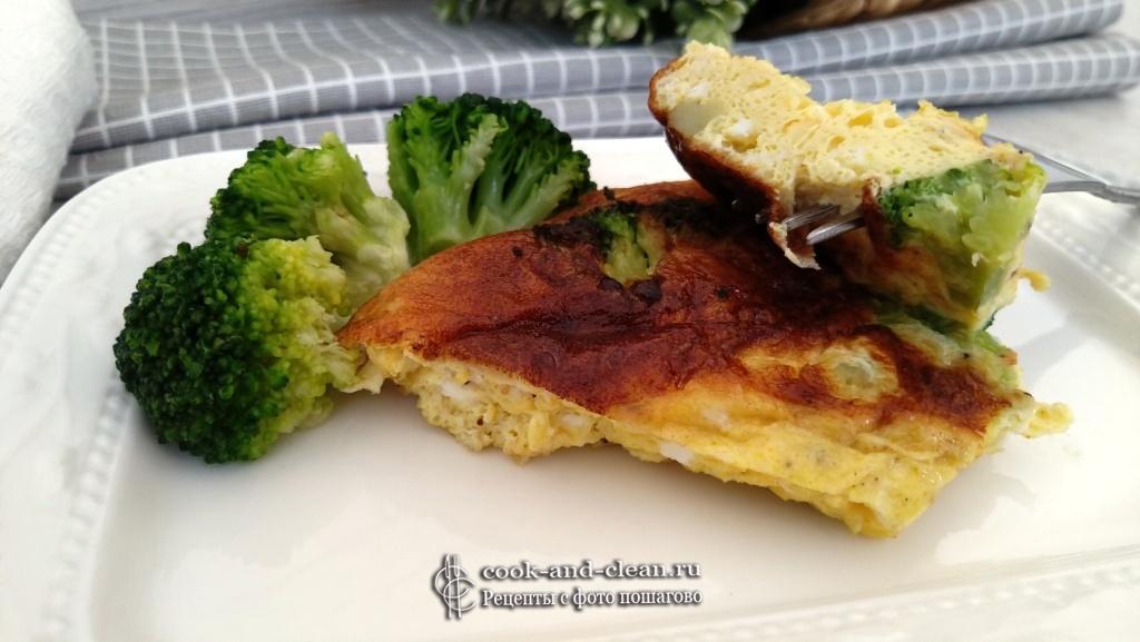 омлет с сыром и брокколи