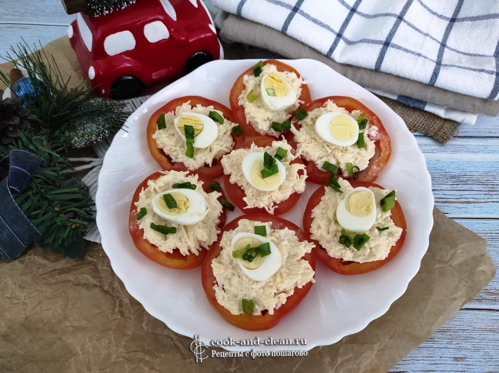 помидоры с сырной начинкой