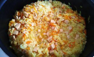рисовая каша с колбасой пошаговый рецепт