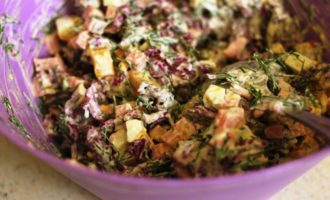 салат из красной капусты пошаговый с фото