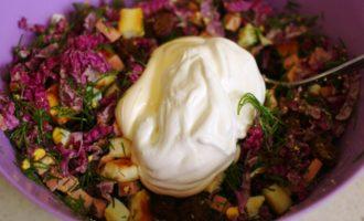 салат из красной капусты пошаговый