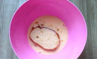 сладкие гренки из батона с молоком с фото