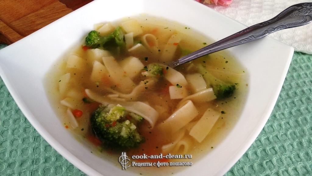 суп из индейки с брокколи пошаговый рецепт