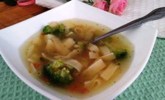 суп из индейки с брокколи пошаговый