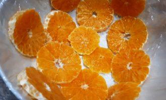 торт без выпечки с мандаринами и желатином
