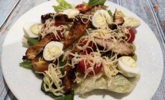 цезарь с курицей ресторанный рецепт пошаговый с фото