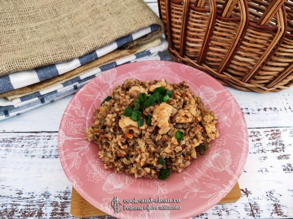 гречка по-купечески с курицей пошаговый рецепт