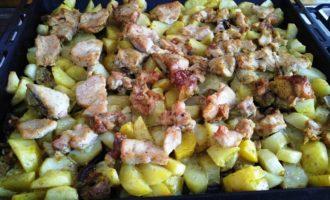 индейка с картошкой в духовке пошагово с фото