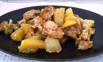 индейка с картошкой в духовке пошаговый