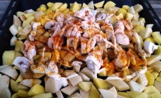 индейка с картошкой в духовке рецепт с фото