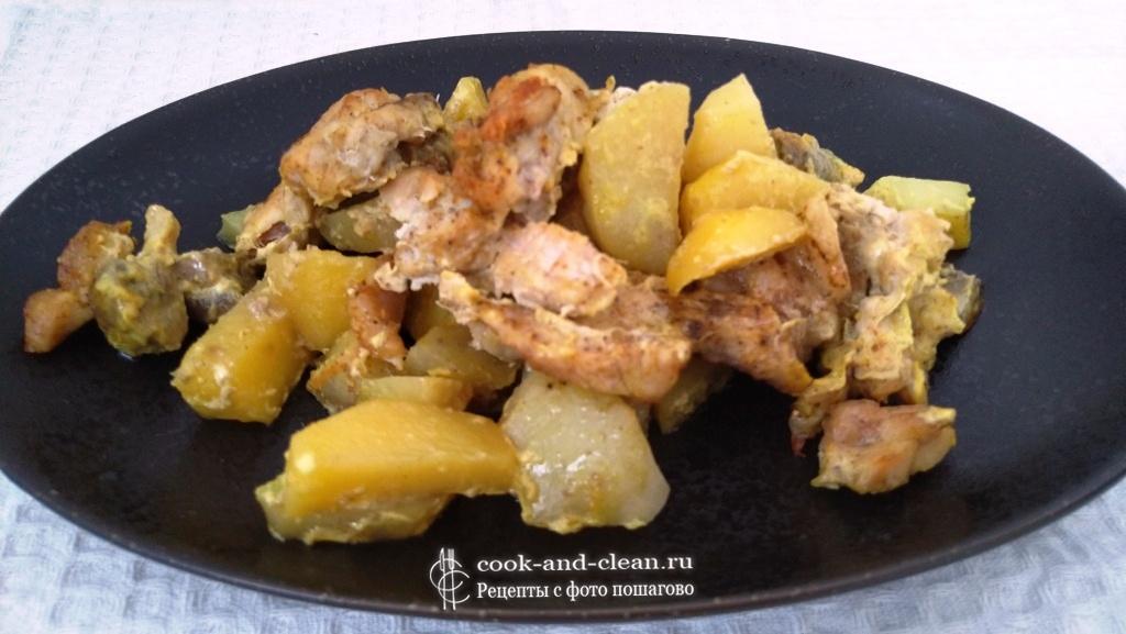 как приготовить индейка с картошкой в духовке