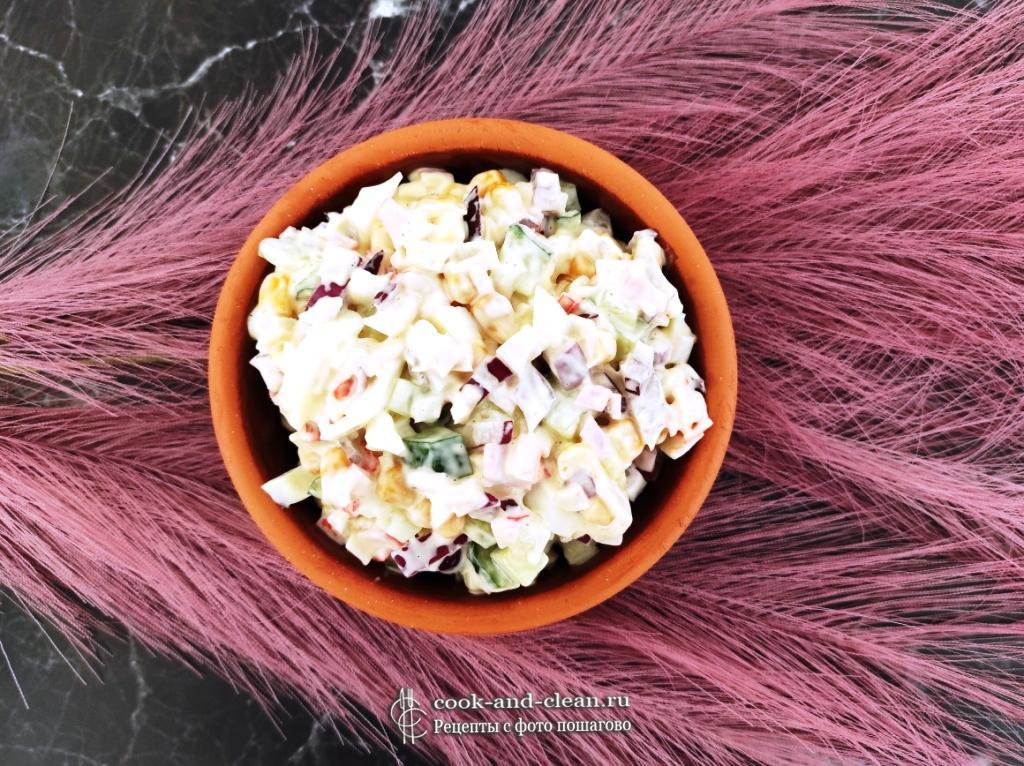 как приготовить легкий крабовый салат