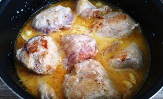 курица в молоке с чесноком пошаговый