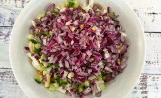 легкий крабовый салат пошагово