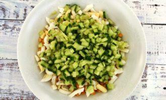легкий крабовый салат рецепт с фото