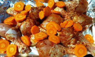 Голень куриная в духовке с овощами рецепт
