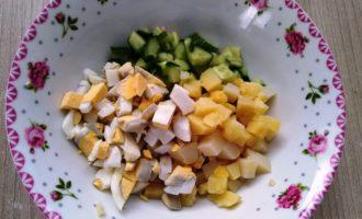 оливье с яблоком рецепт с фото