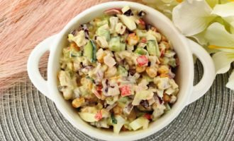 самый вкусный крабовый салат
