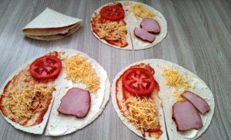 сэндвич из тортильи пошаговый с фото