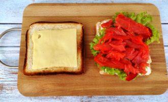 сэндвич с соленым лососем пошагово с фото
