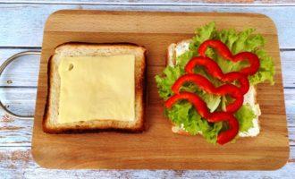 сэндвич с соленым лососем пошагово