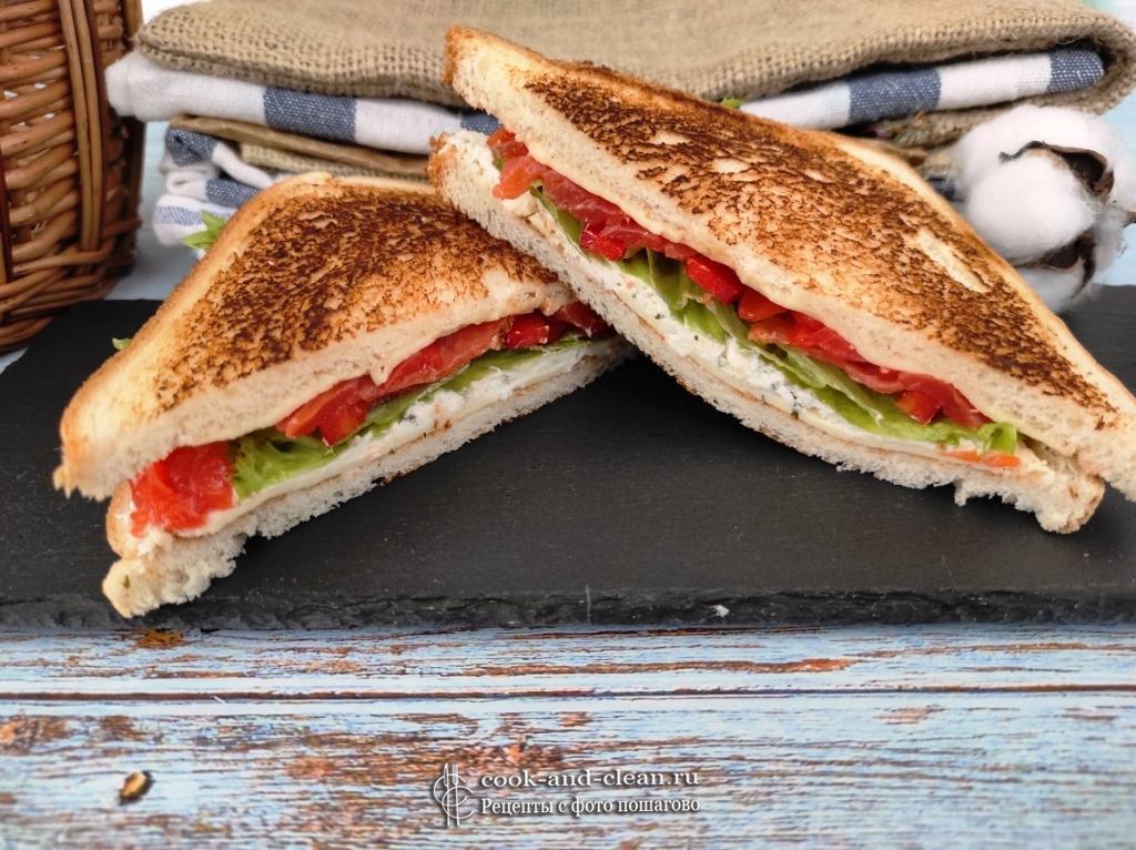 сэндвич с соленым лососем пошаговый рецепт
