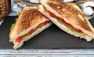 сэндвич с соленым лососем